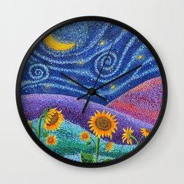 Dream Fields Wall Clock
