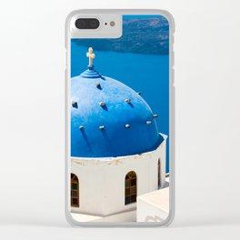 Beautiful Greece Clear iPhone Case