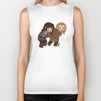 fili Biker Tanks featuring Fili and Kili by Hattie Hedgehog