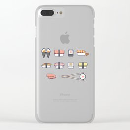Sushi and Chopsticks Clear iPhone Case