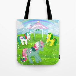 g1 my little pony stylized Fizzy, Gusty and Magic Star Tote Bag