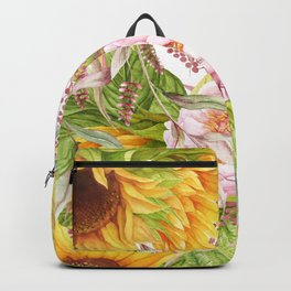 Sunflower Collage Backpack