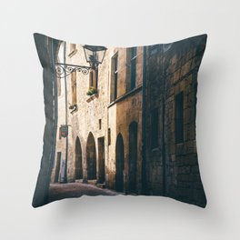 Old World Streets of Sarlat Throw Pillow