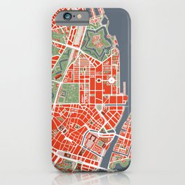 Copenhagen city map classic iPhone Case