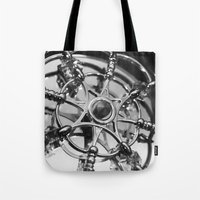 clockwork Tote Bags featuring Clockwork by This N That