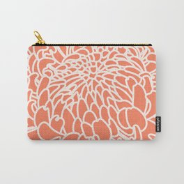 Coral Chrysanth 2 Carry-All Pouch