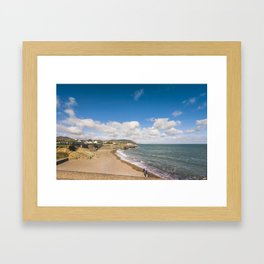 Irish sunny beach Framed Art Print