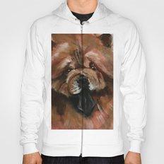 Chow dog portrait Hoody