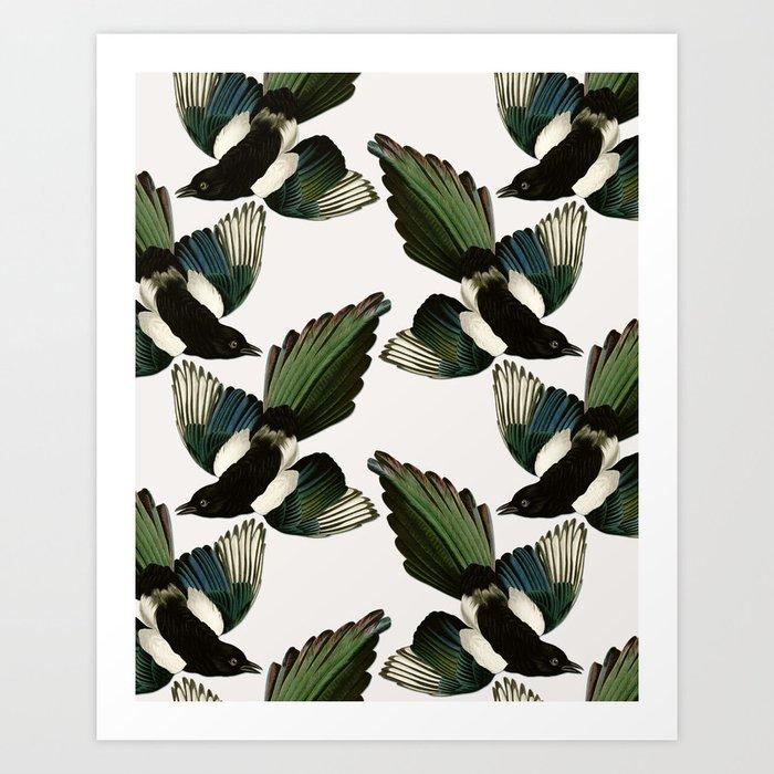 A Tiding Of Magpies Art Print