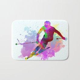 Downhill skier Bath Mat