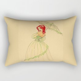 Steampunk Poison Ivy Rectangular Pillow