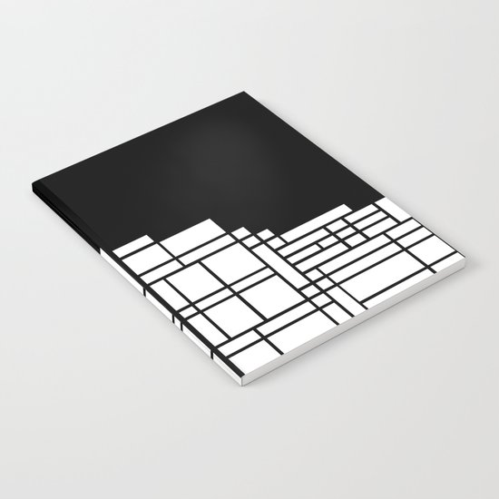 Map Black Boarder Notebook