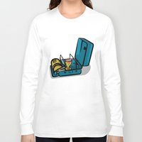 swedish Long Sleeve T-shirts featuring Retro Swedish Camp Stove by mailboxdisco