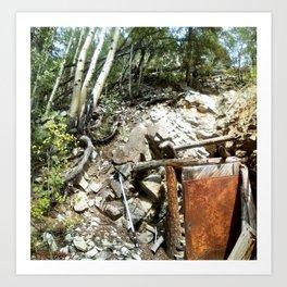 Colorado Gold Rush Mine and Cabin, No. 1 of 3 Art Print