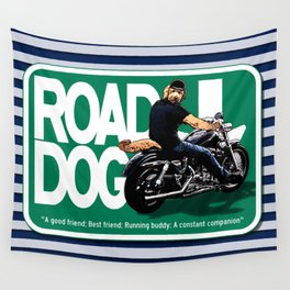 Road Dog Road Sign Wall Tapestry