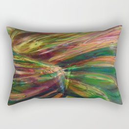 Colorful Glass Abstract Rectangular Pillow
