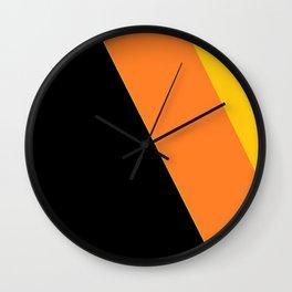 Black, Orange, Yellow Wall Clock