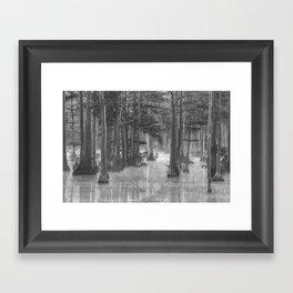 Adams Mill Pond 25 B&W Framed Art Print