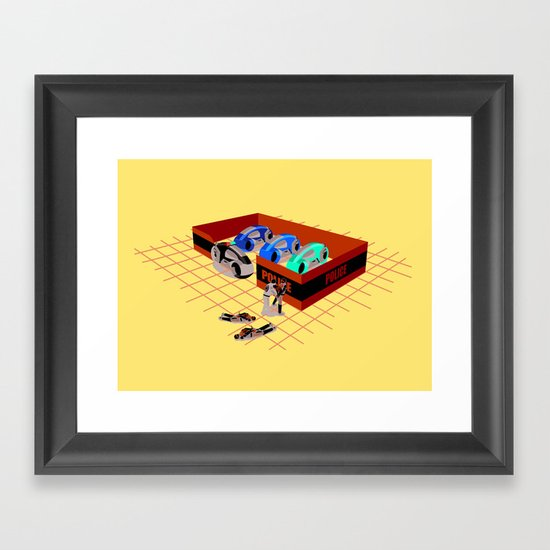 END OF LINE Framed Art Print