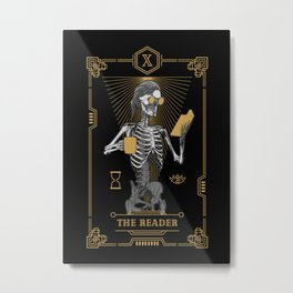 The Reader X Tarot Card Metal Print