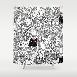 Funny Vegetables Shower Curtain