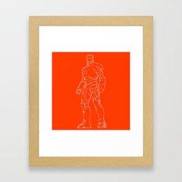 Iron man red orange background Framed Art Print
