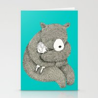 hug Stationery Cards featuring Hug by Maureen Poignonec