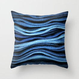 Layered Blue Throw Pillow