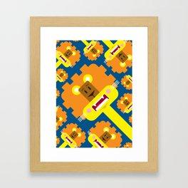 Cute Cartoon Lion Pattern Framed Art Print