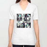smoke V-neck T-shirts featuring Smoke by victorygarlic - Niki