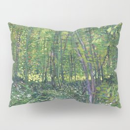 1887-Vincent van Gogh-Trees and undergrowth Pillow Sham