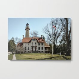 Grosse Point Lighthouse Evanston Illinois Lake Michigan  Metal Print