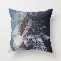san francisco Throw Pillows featuring San Francisco by Herwig Scherabon