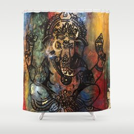 Ganesh Painting Shower Curtain