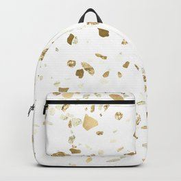 Metallic Gold Terrazzo Sparkle Backpack
