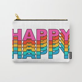 happy retro vintage typography Carry-All Pouch