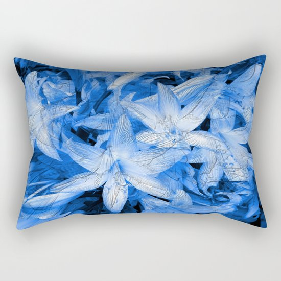 Blue... Rectangular Pillow