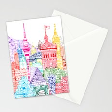 New Zealand Towers  Stationery Cards