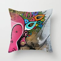creativity Throw Pillows featuring Creativity by Connor Beale