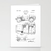 jeep Stationery Cards featuring Jeep: Byron Q. Jones Original Jeep Patent by Elegant Chaos Gallery