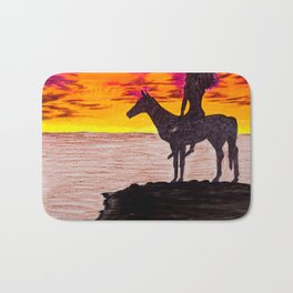 Red Sky at Night, a Chiefs Delight Bath Mat