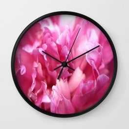 Pink Flower Petals Close-up #decor #society6 #homedecor #buyart Wall Clock
