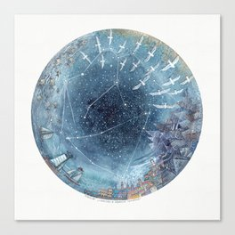 Capricorn & Aquarius friendship Canvas Print