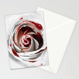 Bleeding Rose Macro Stationery Cards