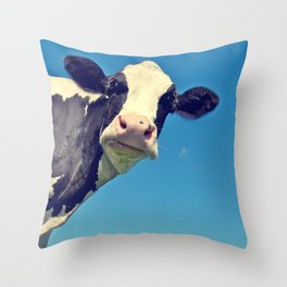 Country Life | Say Hello to Mrs. Cow Throw Pillow