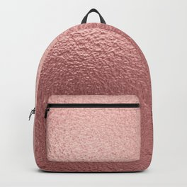 Pure Rose Gold Metal Pink Backpack