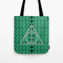 The Deathly Hallows- Slytherin Tote Bag