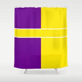 Team Colors 6....Yellow,purple Shower Curtain