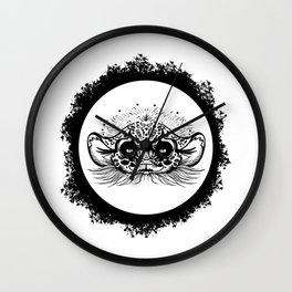 Half Cute Wild Cat Wall Clock