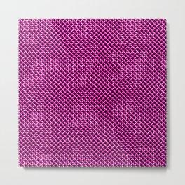 Pink Wire Mesh Pattern Metal Print